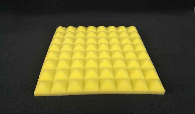 黄色金字塔吸音海绵